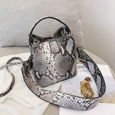 Lovely Trendy Snakeskin Printed Messenger Bag