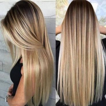 Lovely Trendy Long Gold Wigs