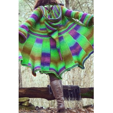 Lovely Casual Hooded Collar Green Plus Size Coat