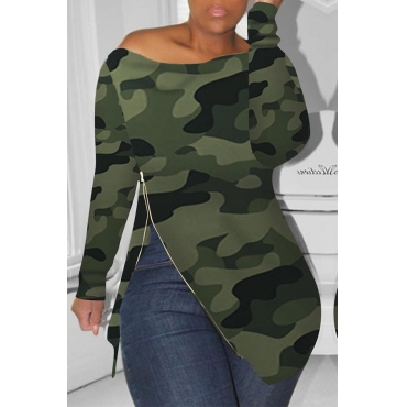 Lovely Casual Printed Green T-shirt