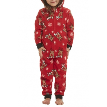 Lovely Family Printed Red Baby One-piece Jumpsuit