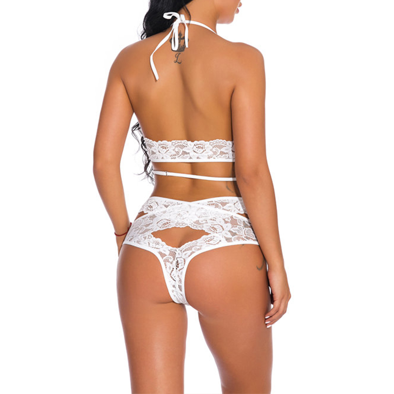 Lovely Sexy Lace Hollow-out White Bra Sets