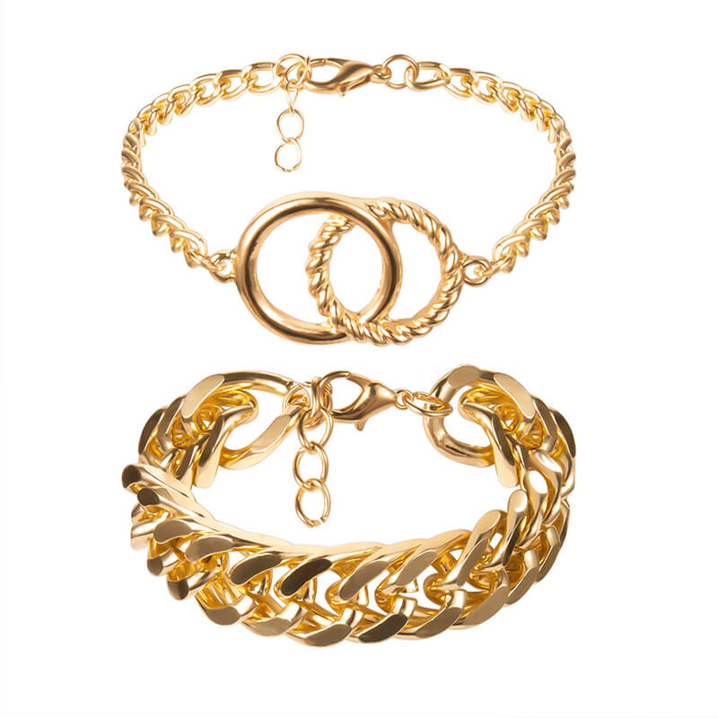 Lovely Trendy Hollow-out Gold Bracelet