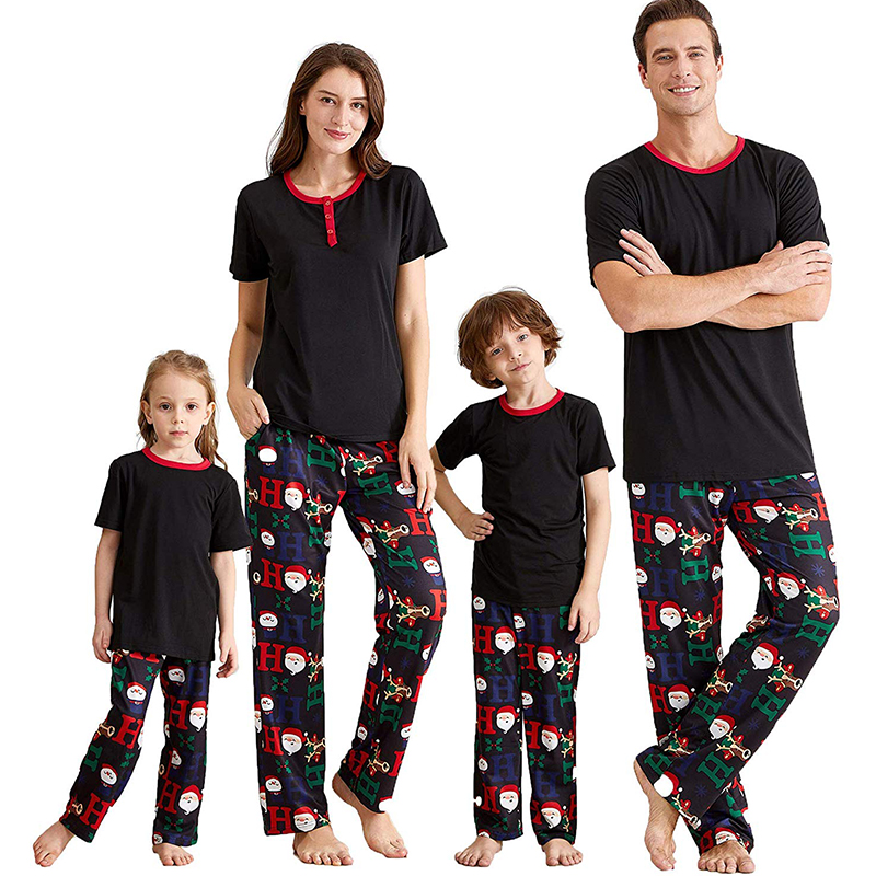 Lovely Family Printed Black Baby One-piece Jumpsuit