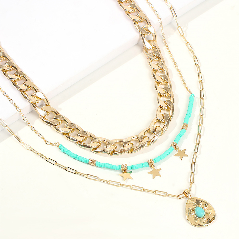 Lovely Trendy Layered Gold Alloy Necklace