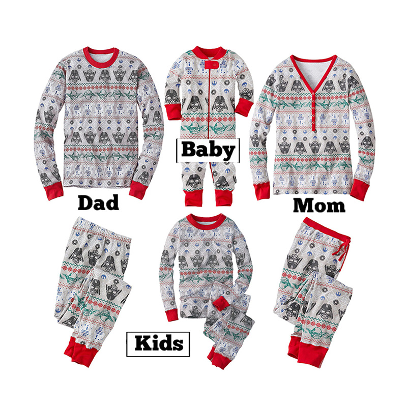 Lovely Family Printed Grey Girls Two-piece Pants Set