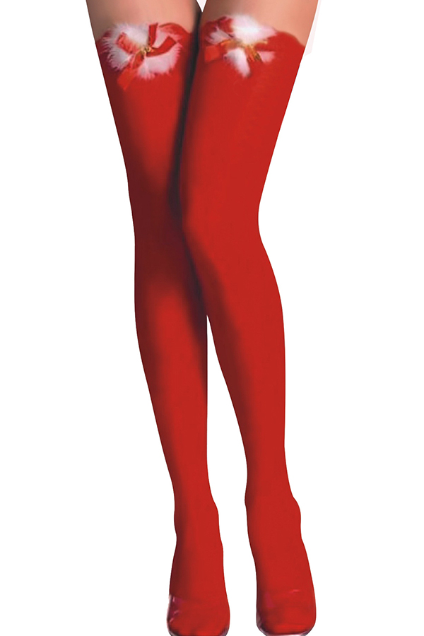 Lovely Cosplay Christmas Day Red Socks