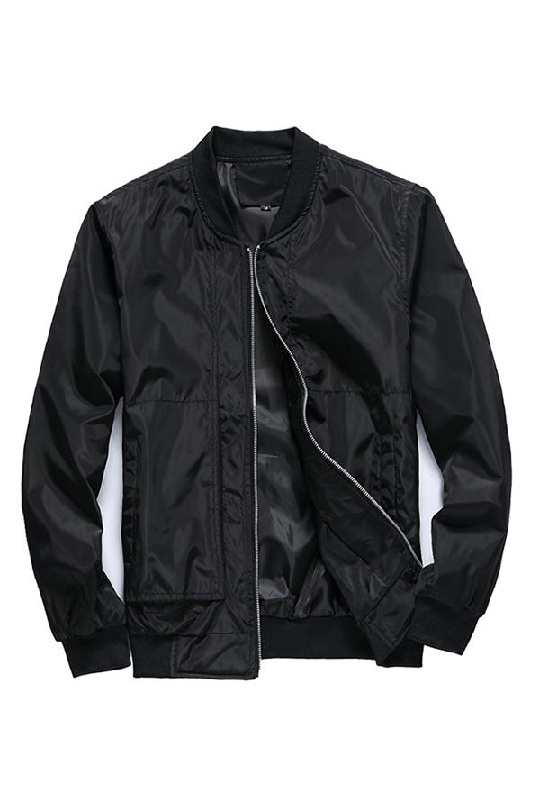 Lovely Stylish Zipper Design Black Jacket
