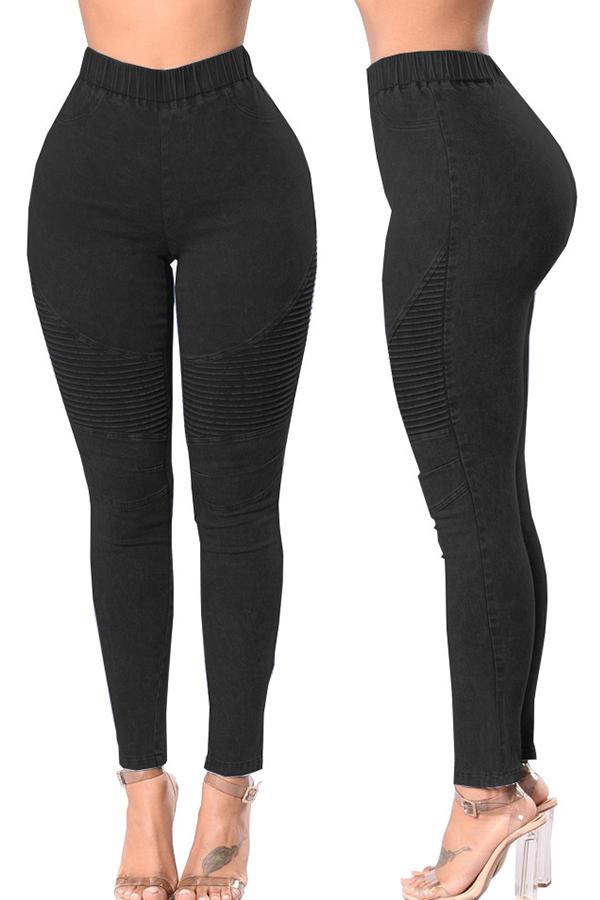 Lovely Casual Skinny Black Jeans
