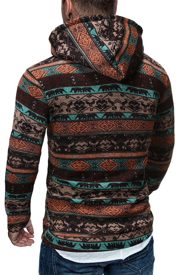 Lovely Casual Hooded Collar Coffee Hoodie