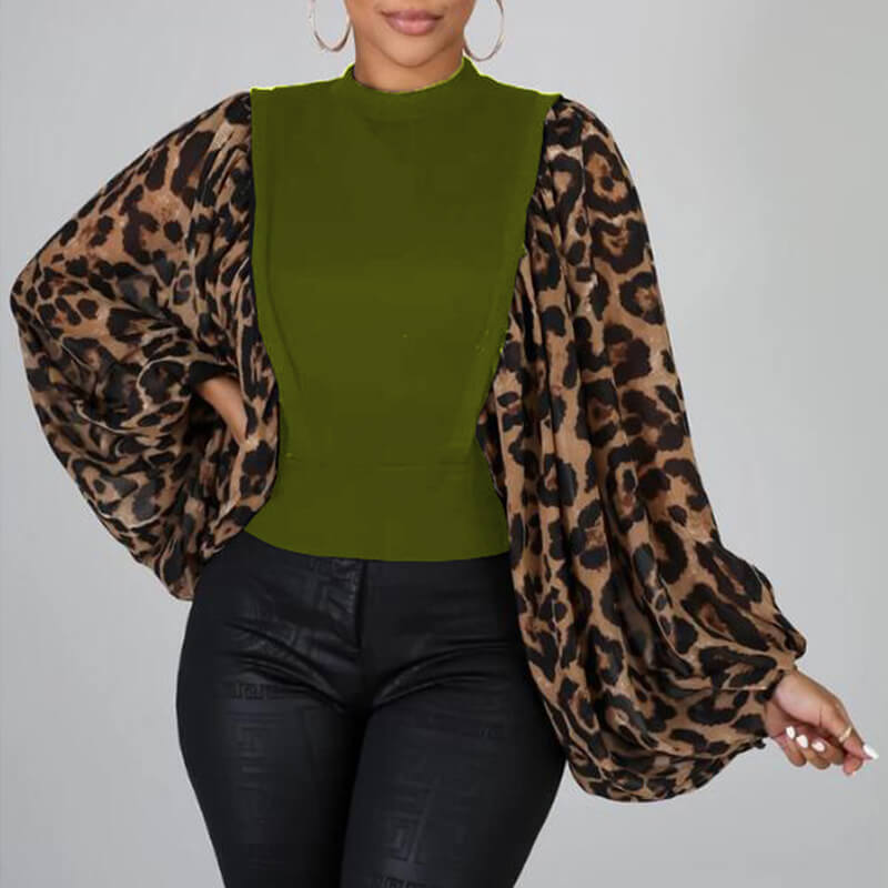 lovelywholesale / Cheap Blouses&Shirts Lovely Casual Patchwork Green Blouse