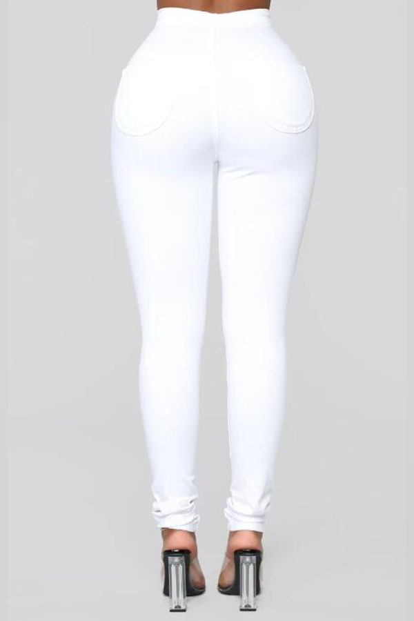 Lovely Casual Skinny White Jeans