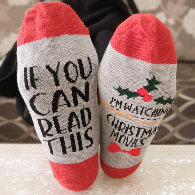 Lovely Christmas Day Letter Red Socks