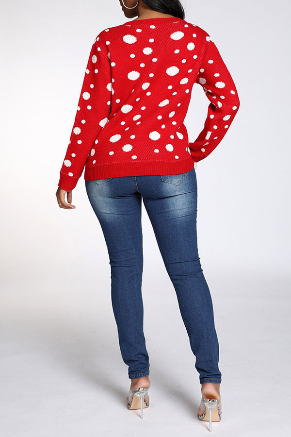Lovely Christmas Day Red Sweater
