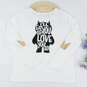 Lovely Family Printed White Father T-shirt