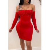 Lovely Party Sleeveless Red Mini Dress