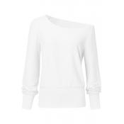Lovely Casual Basic White Sweatshirt Hoodie