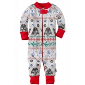 Lovely Family Printed Grey Baby Two-piece Pants Se