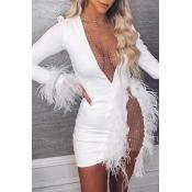 Lovely Party See-through White Mini Dress