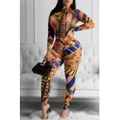Lovely Party Printed Multicolor Two-piece Pants Se