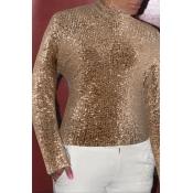 Lovely Trendy Skinny Gold T-shirt