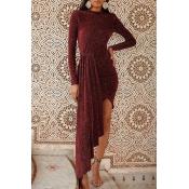 Lovely Casual Asymmetrical Red Floor Length Prom Dress