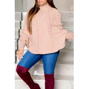 Lovely Stylish Cloak Design Light Pink Sweater