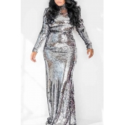 Lovely Party Turtleneck Silver Trumpet Mermaid Pro
