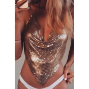 Lovely Casual Asymmetrical Gold Intimates Accessor