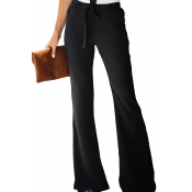 Lovely Leisure Loose Flared Black Pants