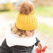 Lovely Cute Yellow Girls Beanie