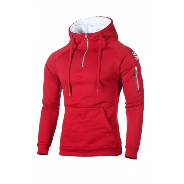 Lovely Casual Hooded Collar Red  Hoodie
