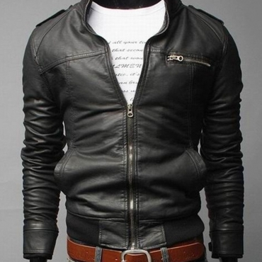 Lovely Casual Zipper Design Black Jacket