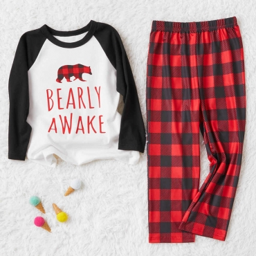 Lovely Family Printed White Boys Two-piece Pants Set