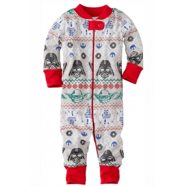 Lovely Family Printed Grey Baby Two-piece Pants Set