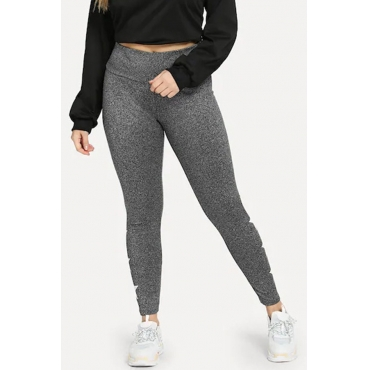 Lovely Casual Skinny Grey Plus Size Pants