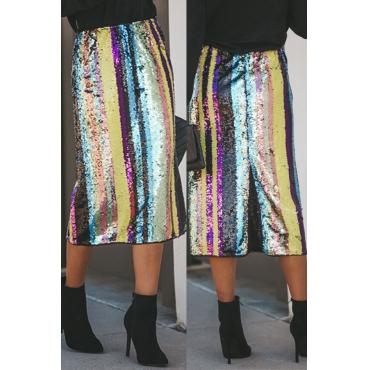 Lovely Trendy Striped Multicolor Skirt