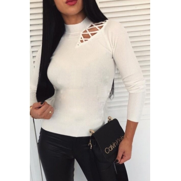 Lovely Casual Hollow-out White Base Layers