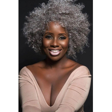 Lovely Chic Curly Silver Grey Wigs
