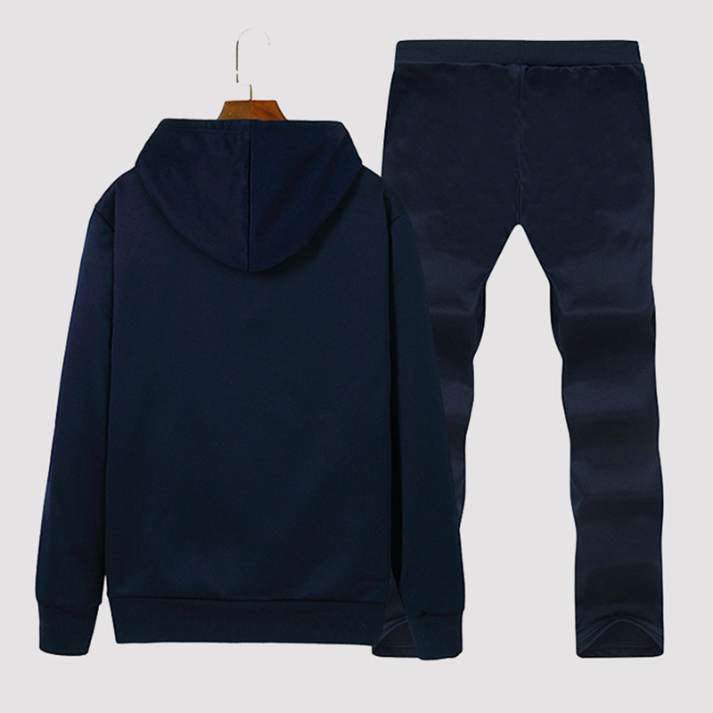 Lovely Casual Hooded Collar Deep Blue Two-piece Pants Set