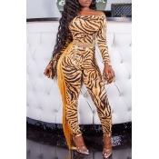 Lovely Chic Tassel Design Tiger Stripes One-piece