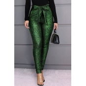 Lovely Casual Drawstring Green Pants