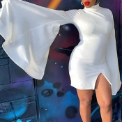 Lovely Sweet Flounce White Mini Dress