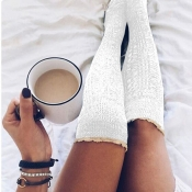 Lovely Chic Patchwork Lace White Socks
