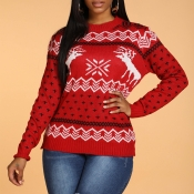Lovely Christmas Day Deer Red Sweater