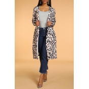 Lovely Casual Leopard Long Coat