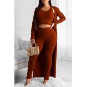 Lovely Trendy Basic Skinny Purplish Red Three-piec