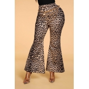 Lovely Casual Leopard Print Pants