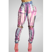 Lovely Leisure Hollow-out Multicolor Pants