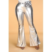 Lovely Casual Loose Silver Pants